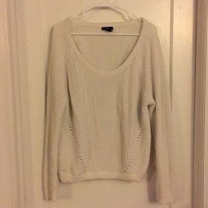 Gap white knit sweater XXL